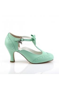 Chaussures vintage flapper 11 vert