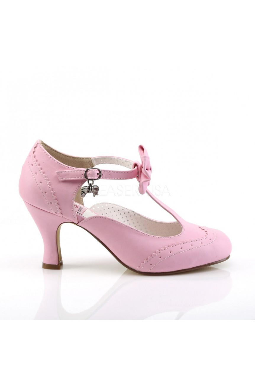 Chaussures vintage flapper 11 rose