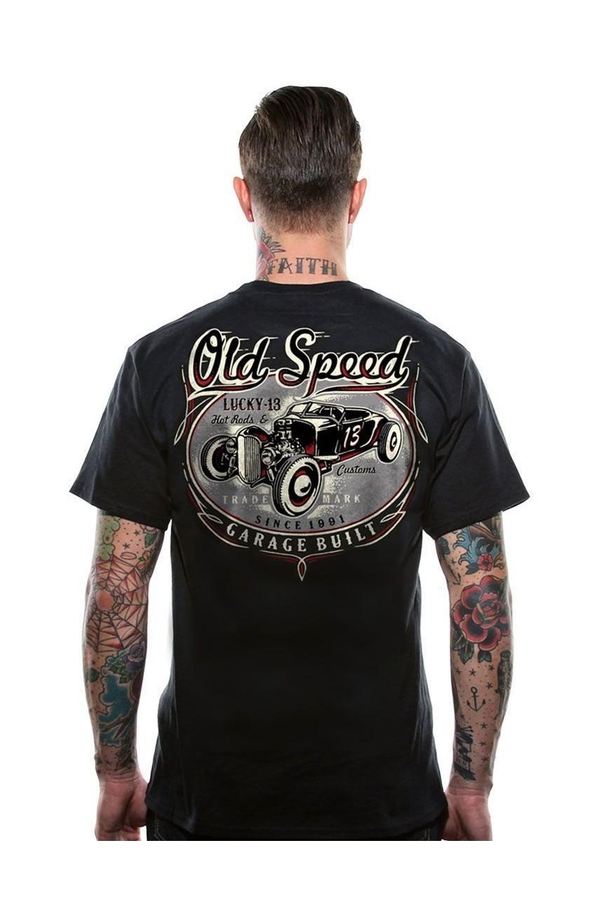 Tee shirt rat rod custom lucky 13