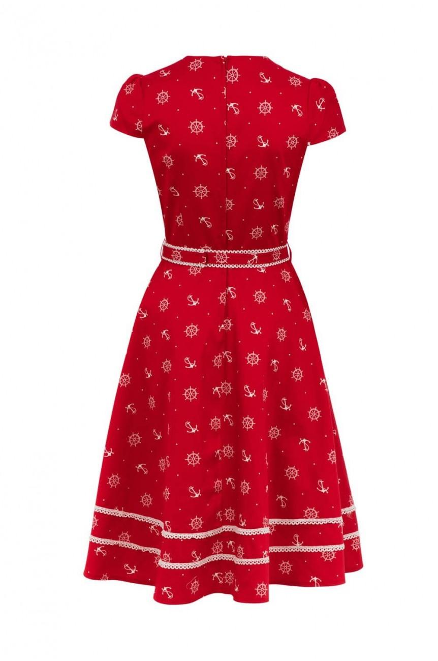 Robe pinup marin rouge
