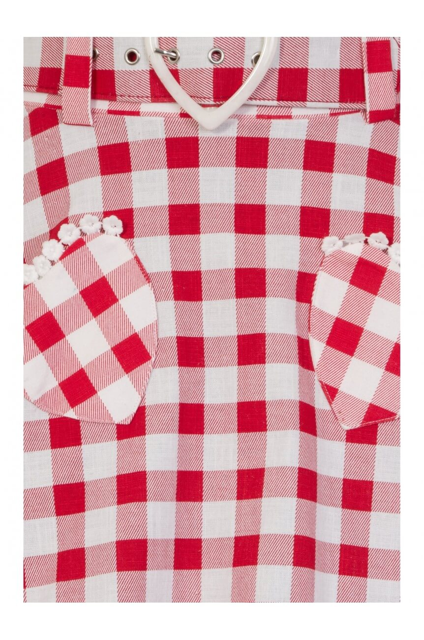 Jupe gingham années 50