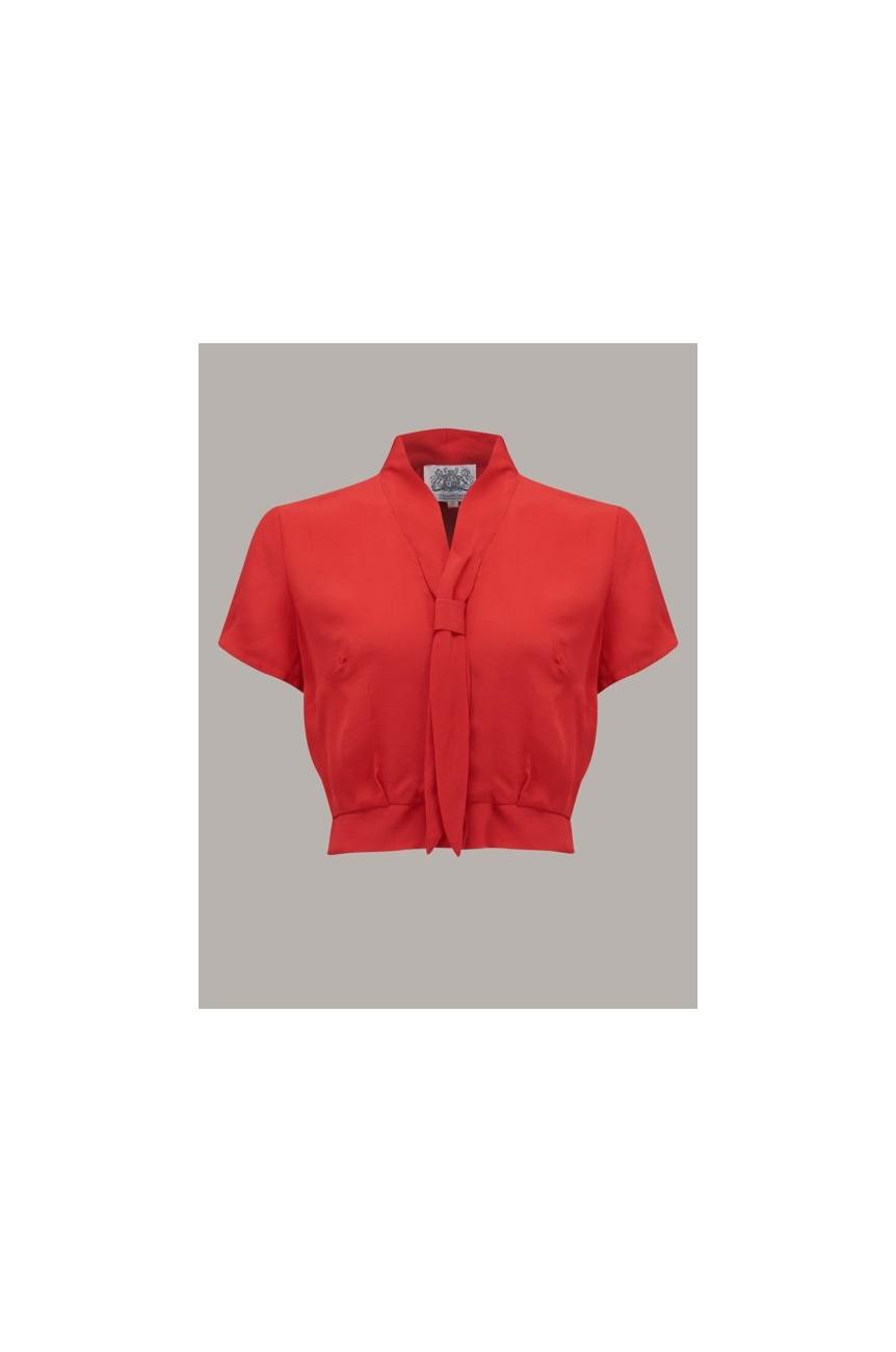 Blouse rouge vintage