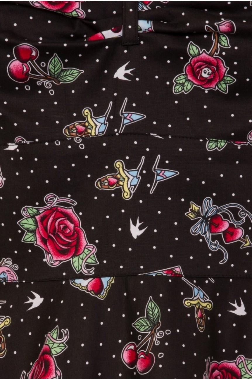 Robe pin up fleur et pois
