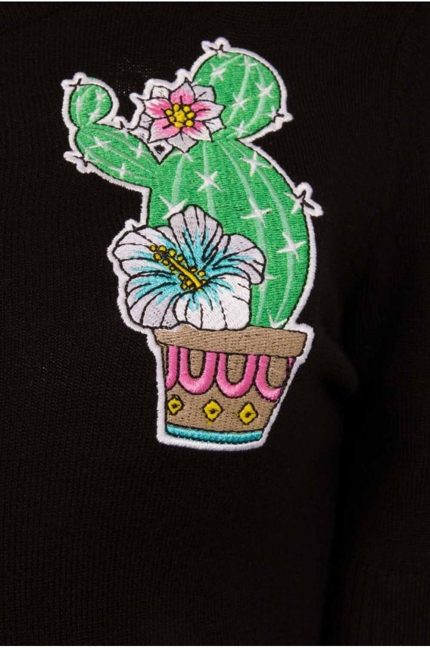 Cardigan cactus vintage pinup