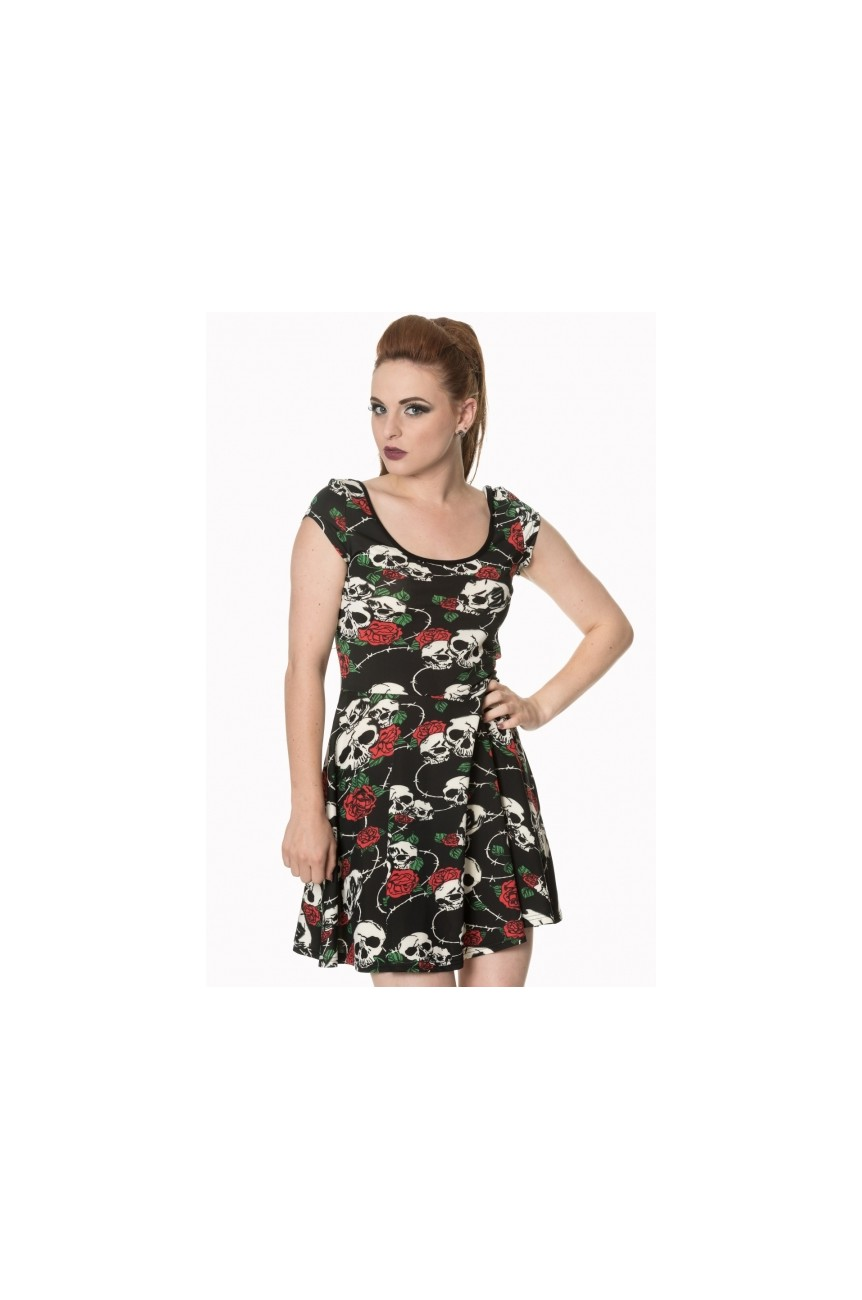 Robe pin up tete de mort