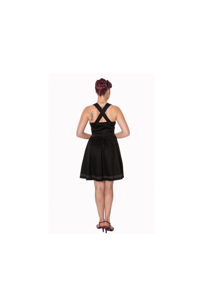 Robe rock noire pin up