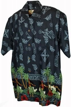 Chemise hawaiienne avec danseuses