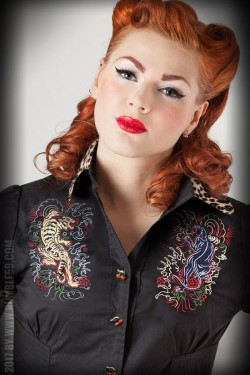 Blouse rockabilly Rumble59