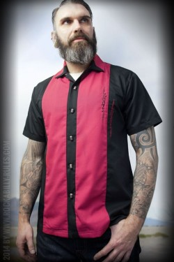 Chemise rockabilly boutons micro Rumble59