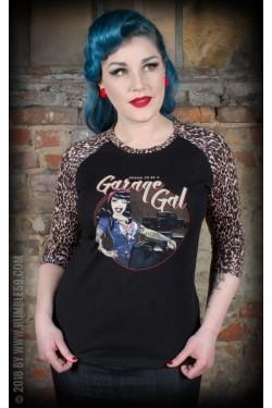 Tee shirt rockabilly femme raglan
