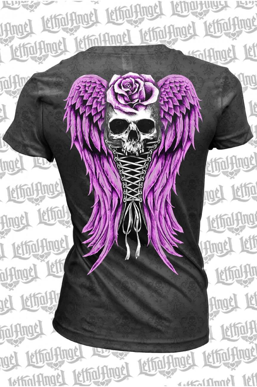 Tee shirt corset skull