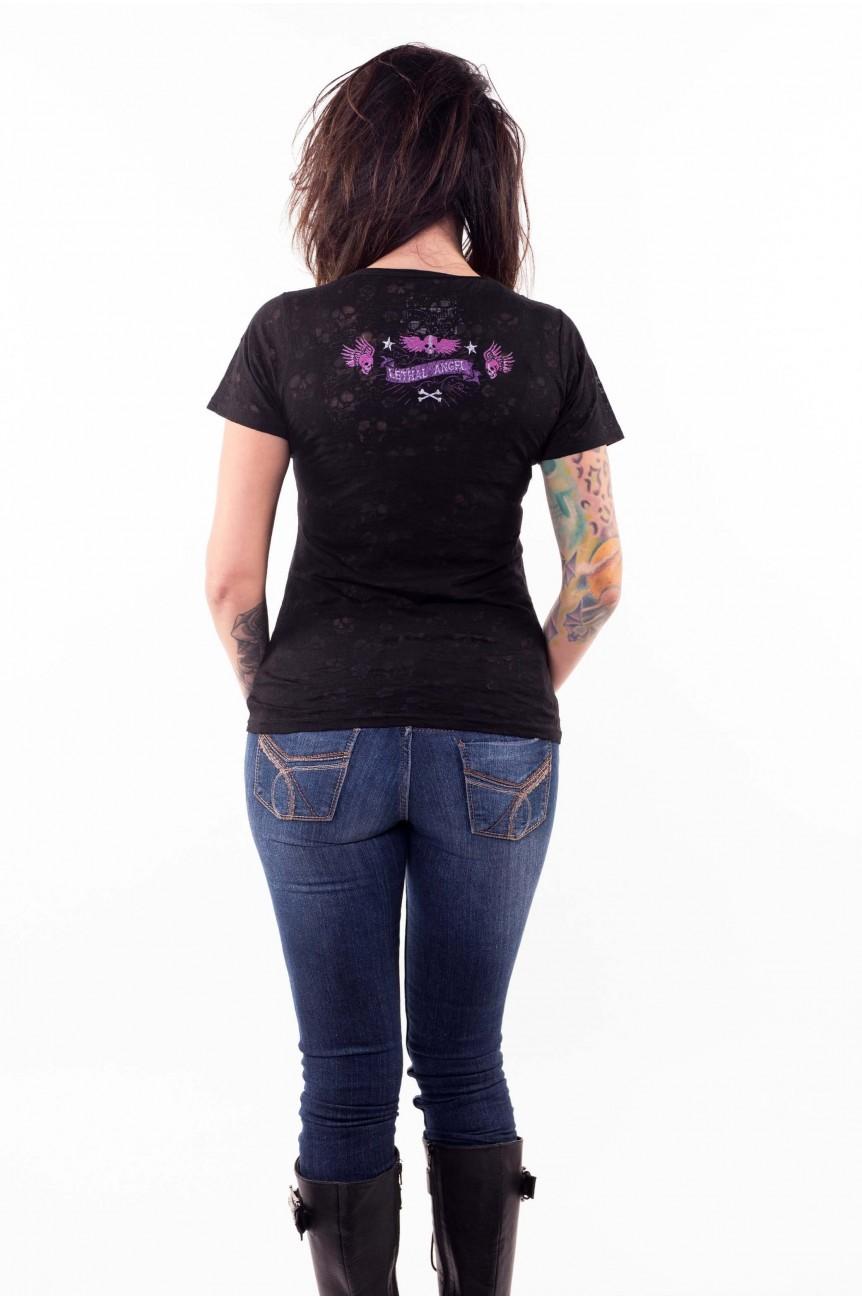 Tee shirt femme pistolets