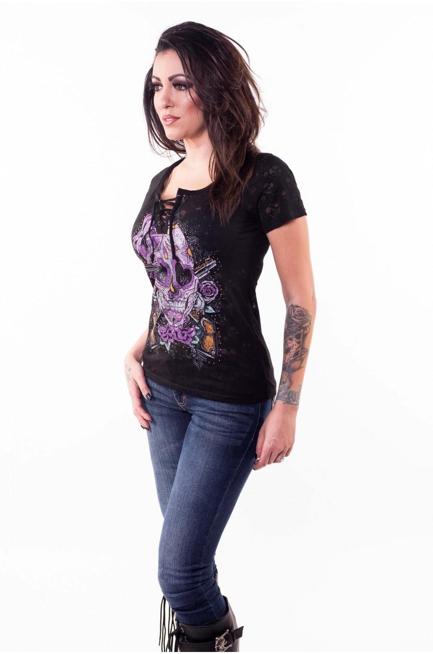 Tee shirt rock femme