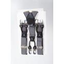 Bretelles rockabilly noire et beige
