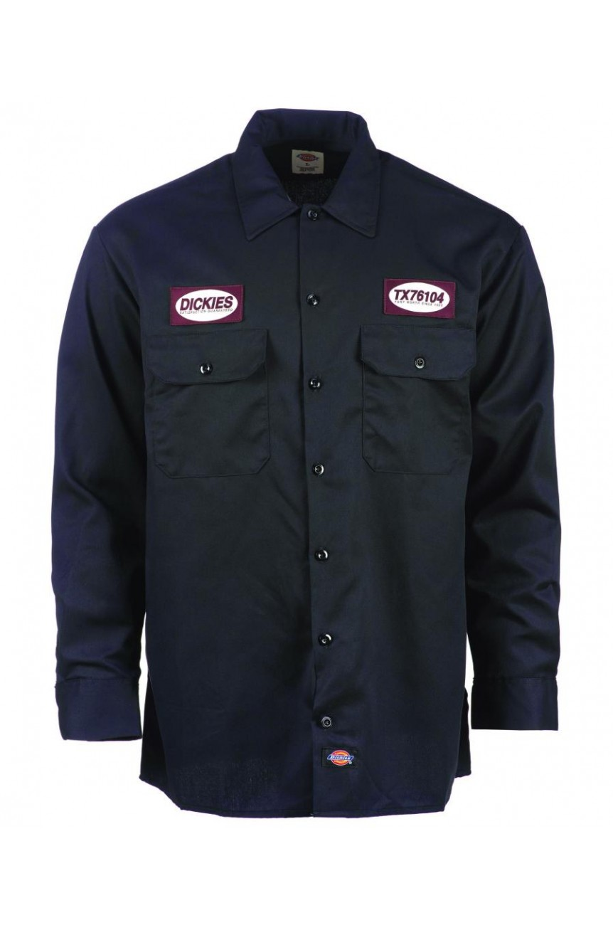 Chemise dickies manches longues avec patch dickies 1922