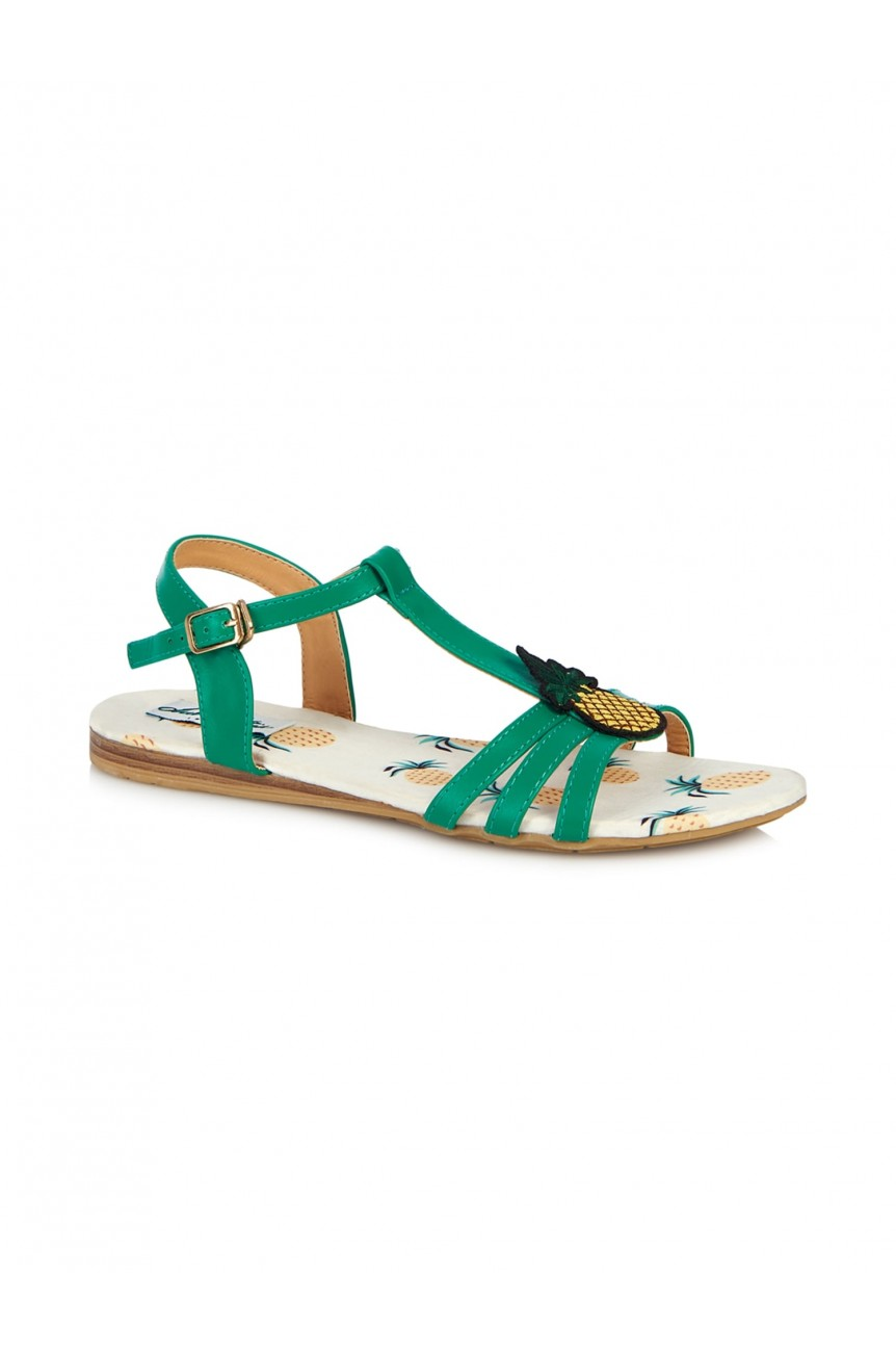 Sandales ananas pinup-Lulu Hun