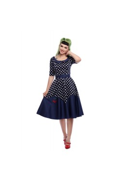 Robe rockabilly a pois 50s