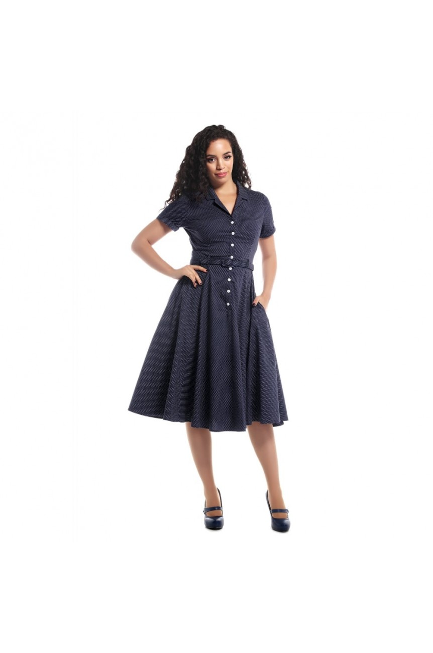 Robe swing a pois longue