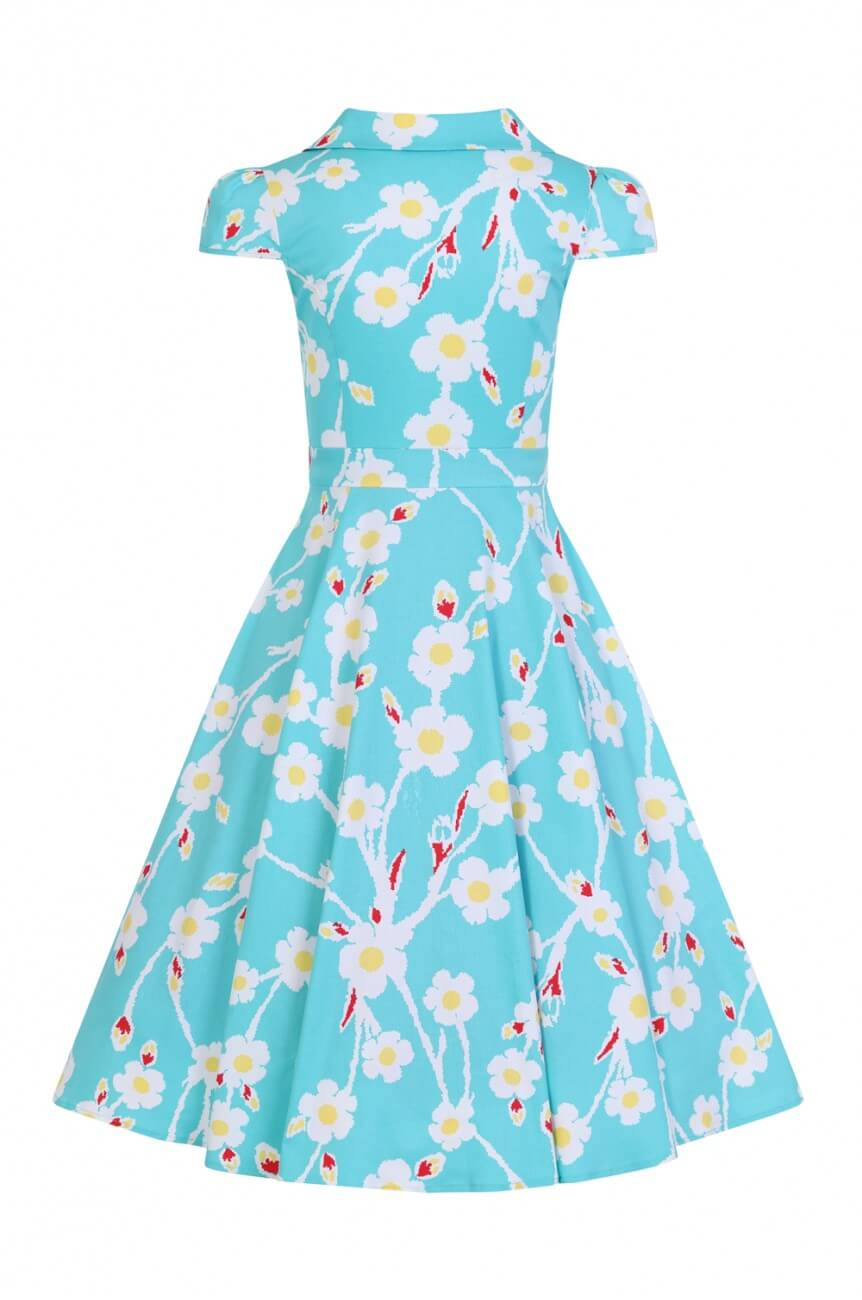 Robe pin-up fleurs hearts and roses