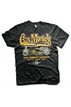 Tee shirt green hot rod gas monkey garage