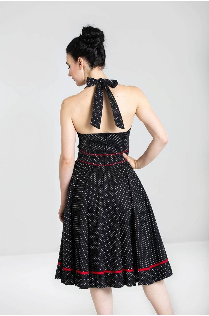 Robe swing a pois vanity dress
