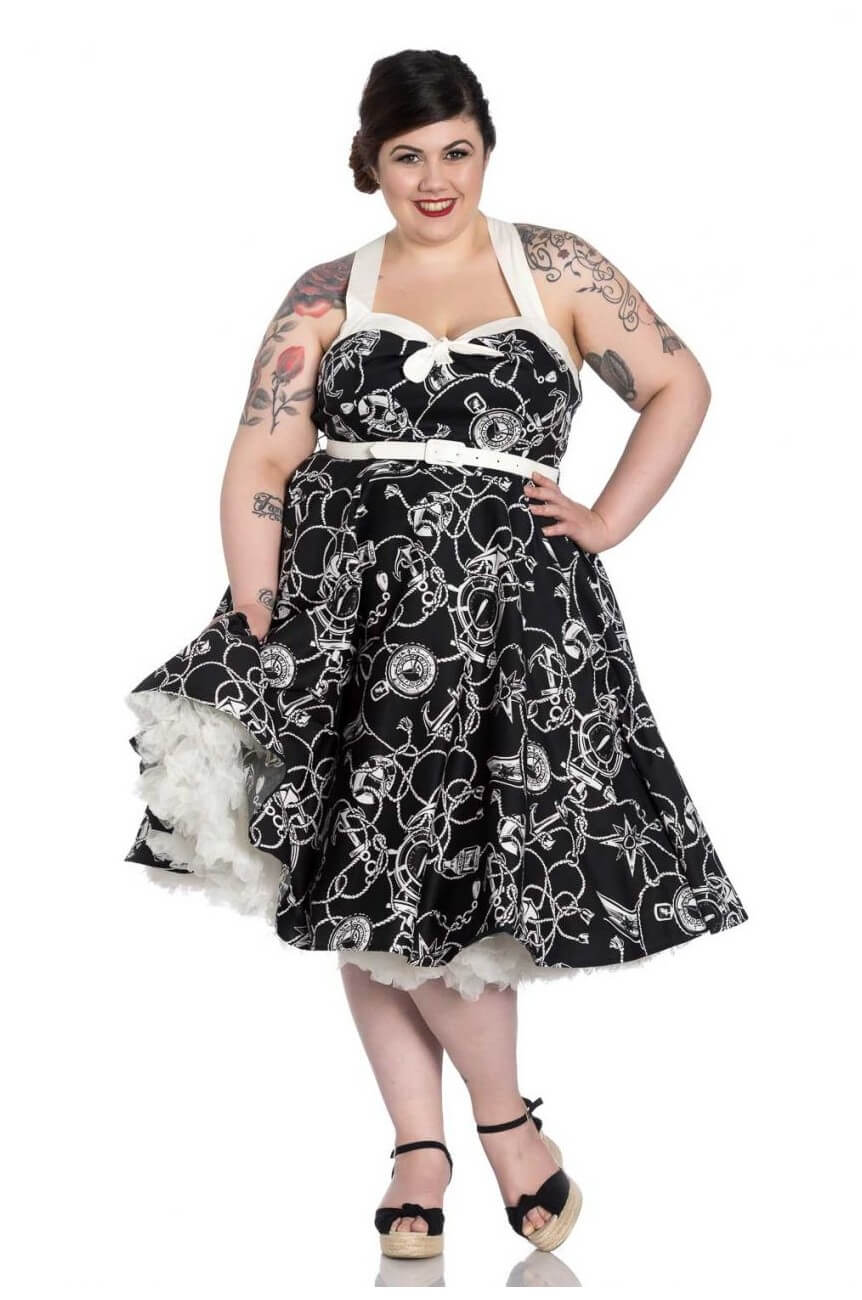 Robe rétro pinup grande taille