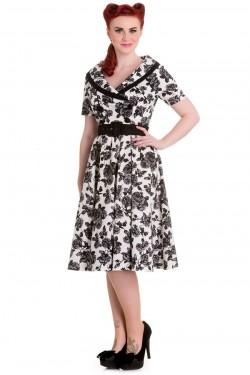 Robe florale années 50 rockabilly