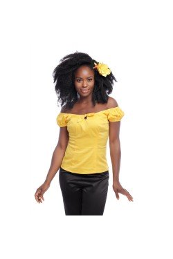Haut pin-up jaune