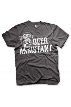 Tee shirt gris beer assistant Gas monkey garage