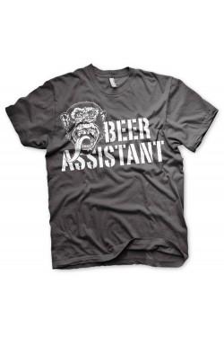 Tee shirt gris beer assistant Gas monkey garage