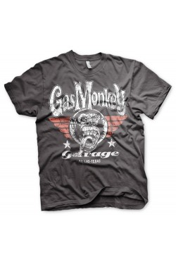Tee shirt gris Gas monkey garage Texas wings
