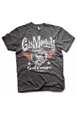 Tee shirt gris Gas monkey garage Texas wings