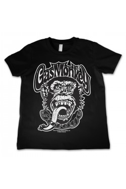 Tee shirt noir enfant gas monkey