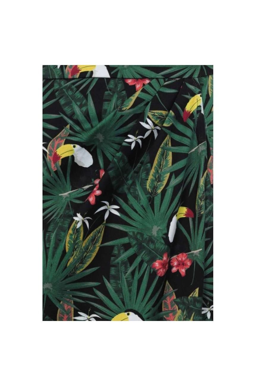 Jupe collectif motif tropical