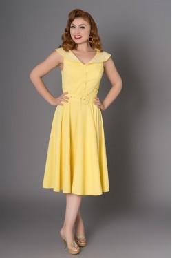 Robe swing jaune années50