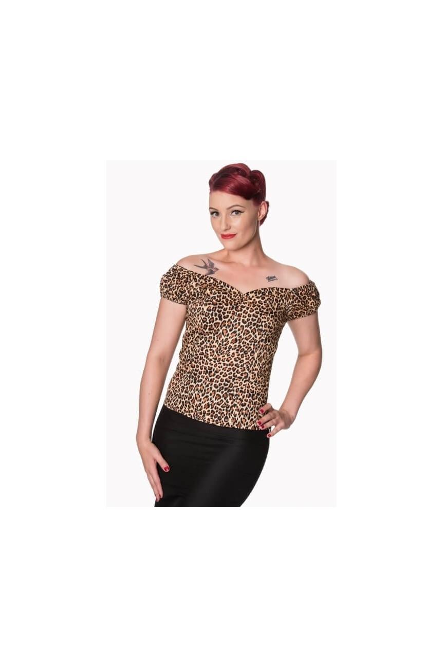Haut rockabilly léopard
