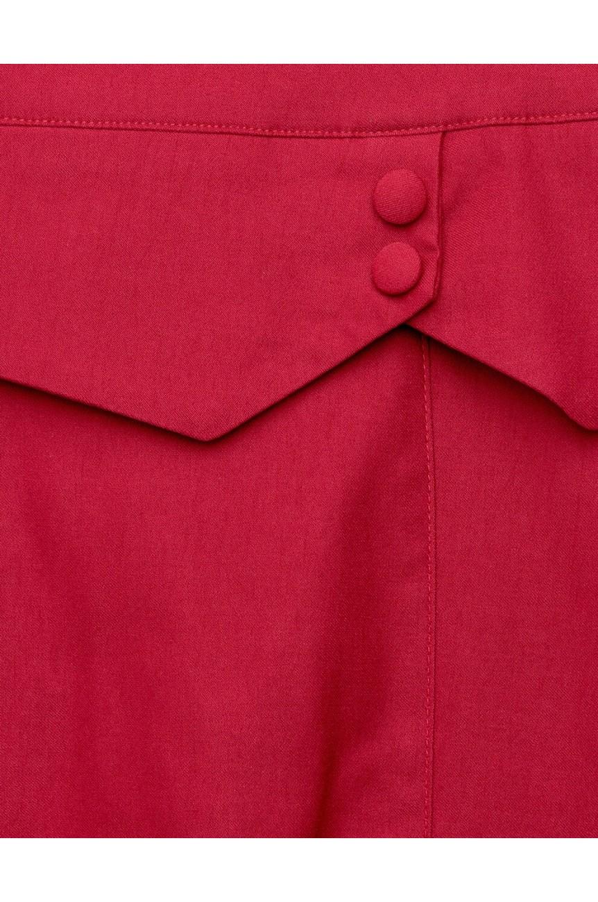 Jupe fourreau rouge 1950 pinup