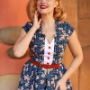 Robe pinup taille haute