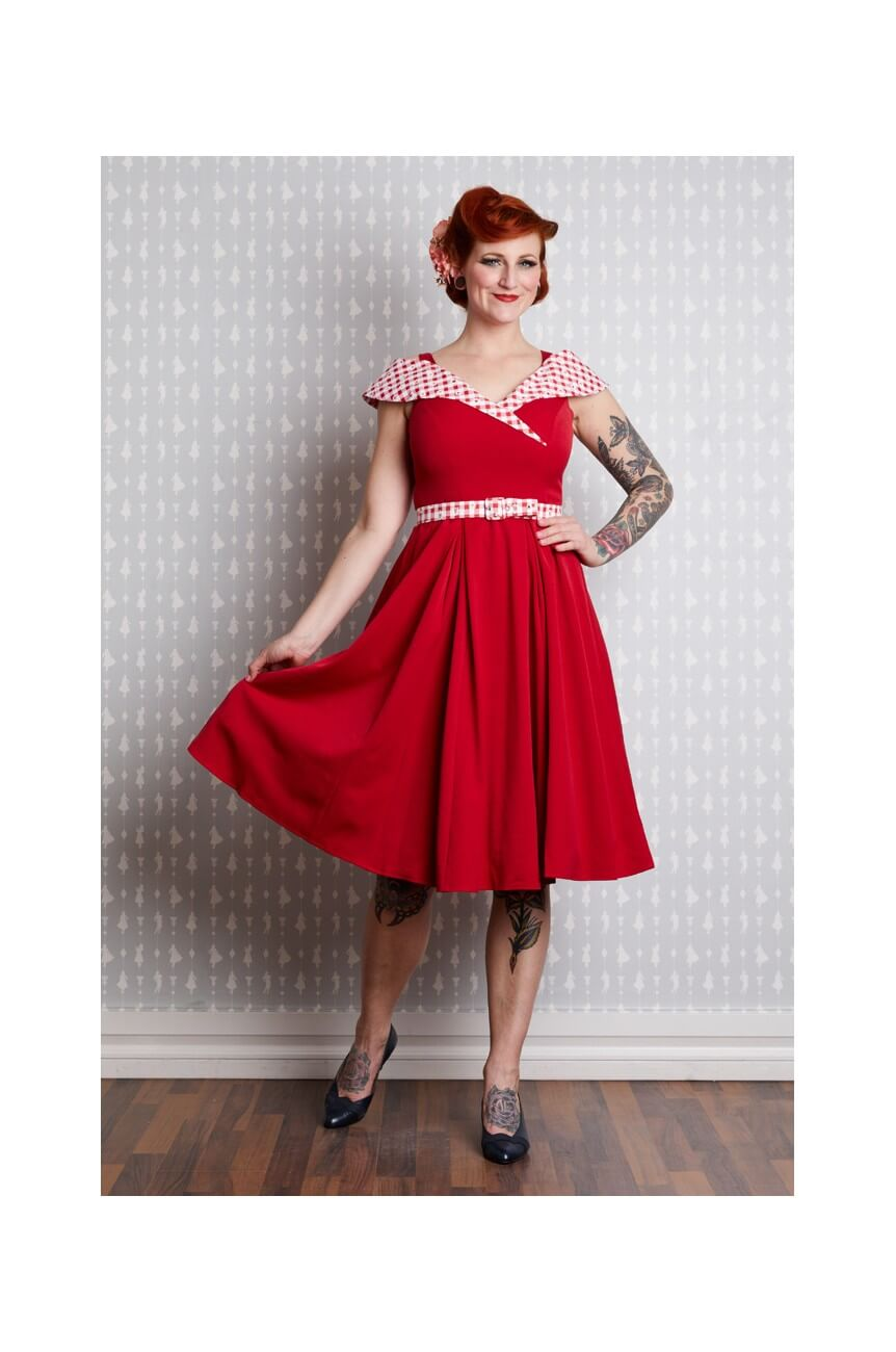 Robe pinup retro rouge