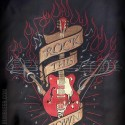 Chemise stray cats rockabilly