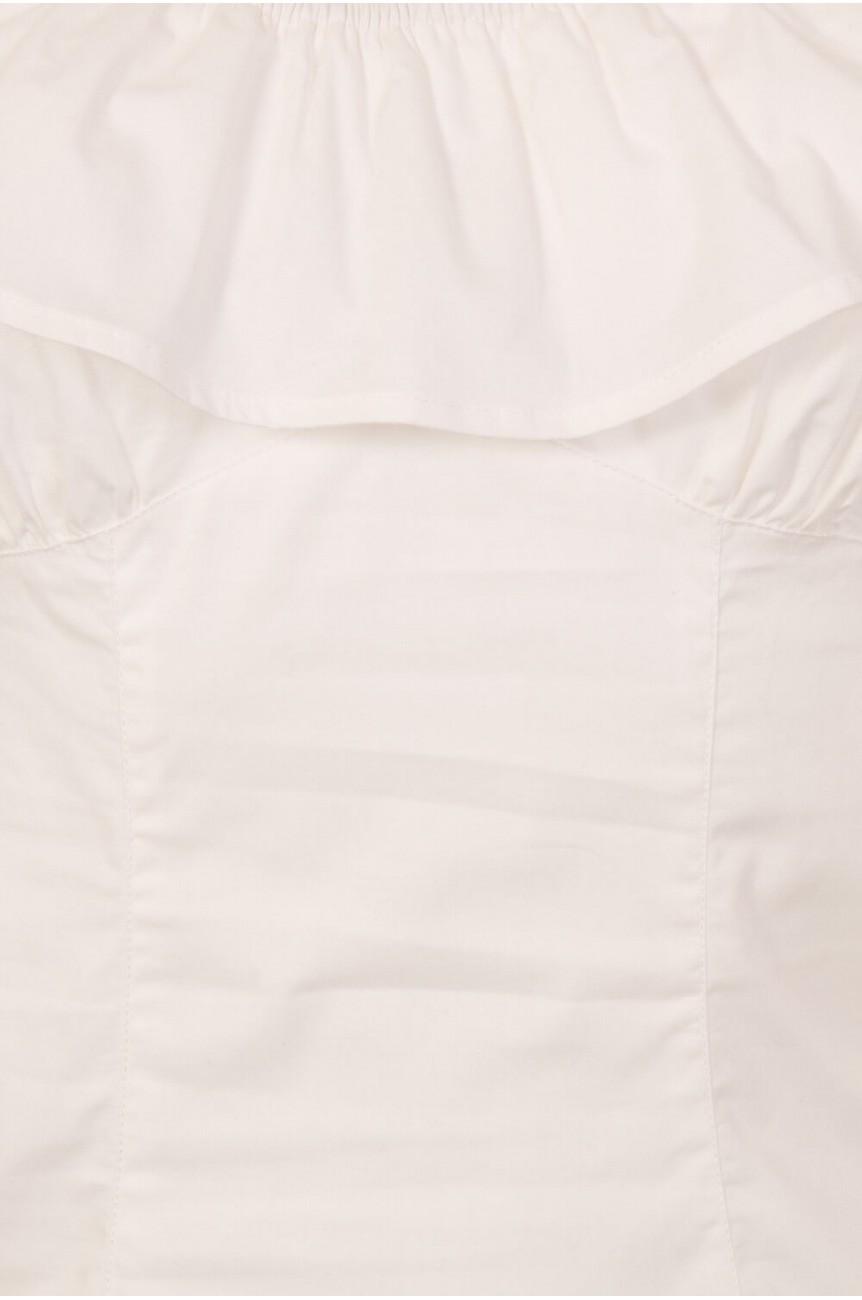 Top vintage gipsy blanc