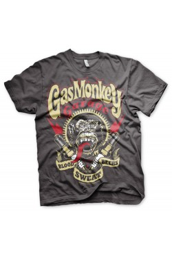 T shirt gas monkey spark plugs grey