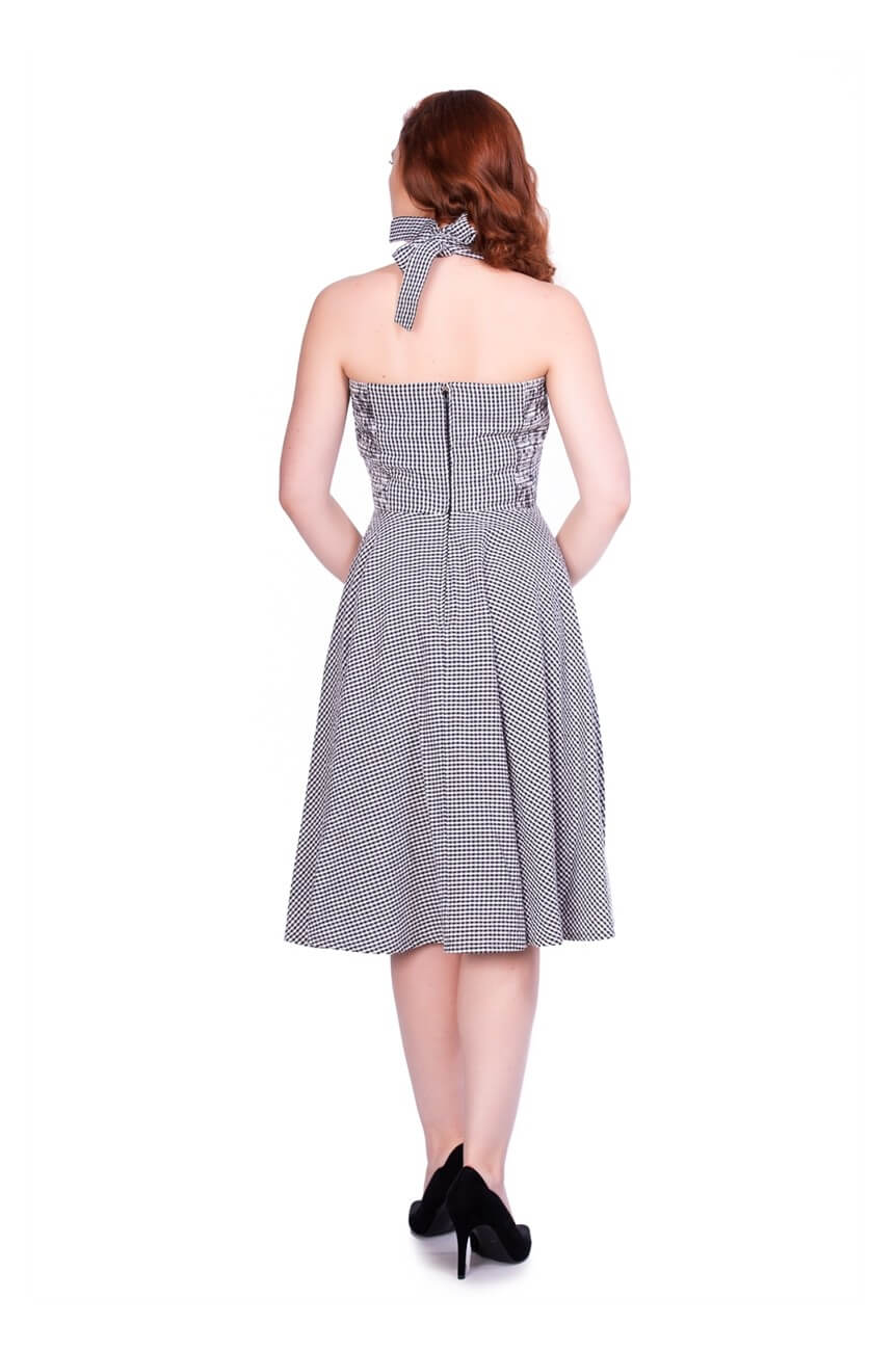 Robe vichy noir années 50