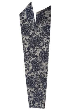 Bandeau serre tete floral noir et blanc