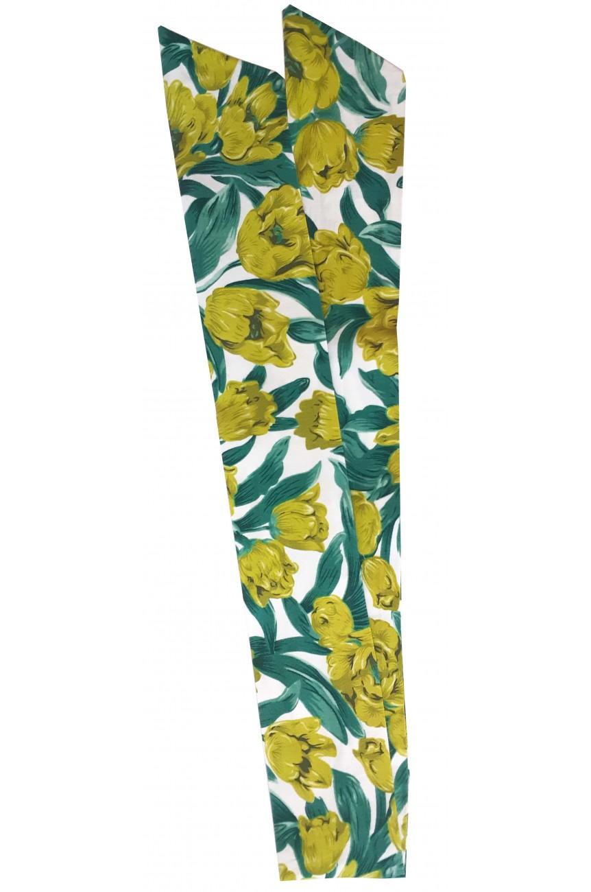 Bandeau cheveux avec fil fleur verte