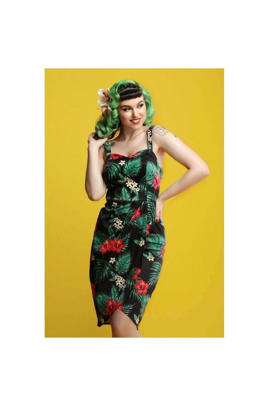 Robe portefeuille pinup années 50