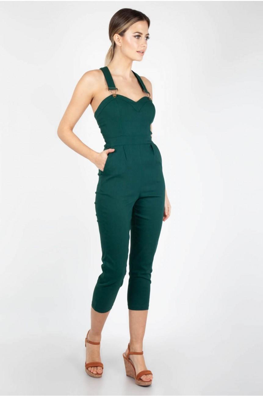 Combinaison femme verte