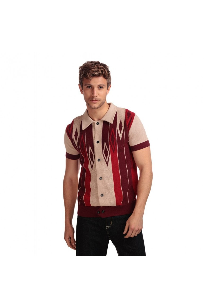 Cardigan manches courtes homme