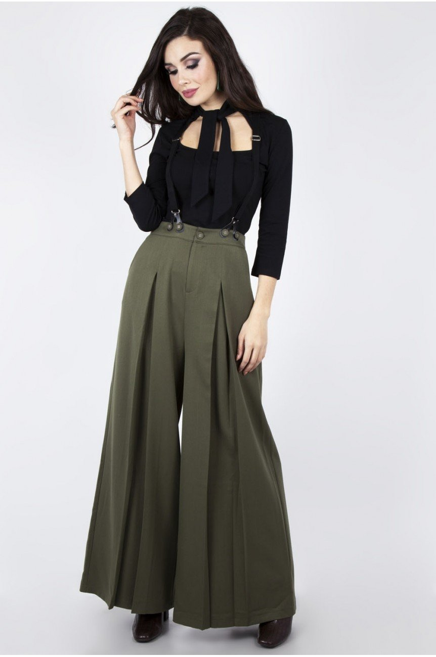 Pantalon 1940 taille haute très large