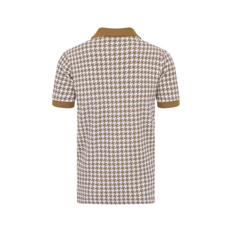 Polo vintage homme moutarde